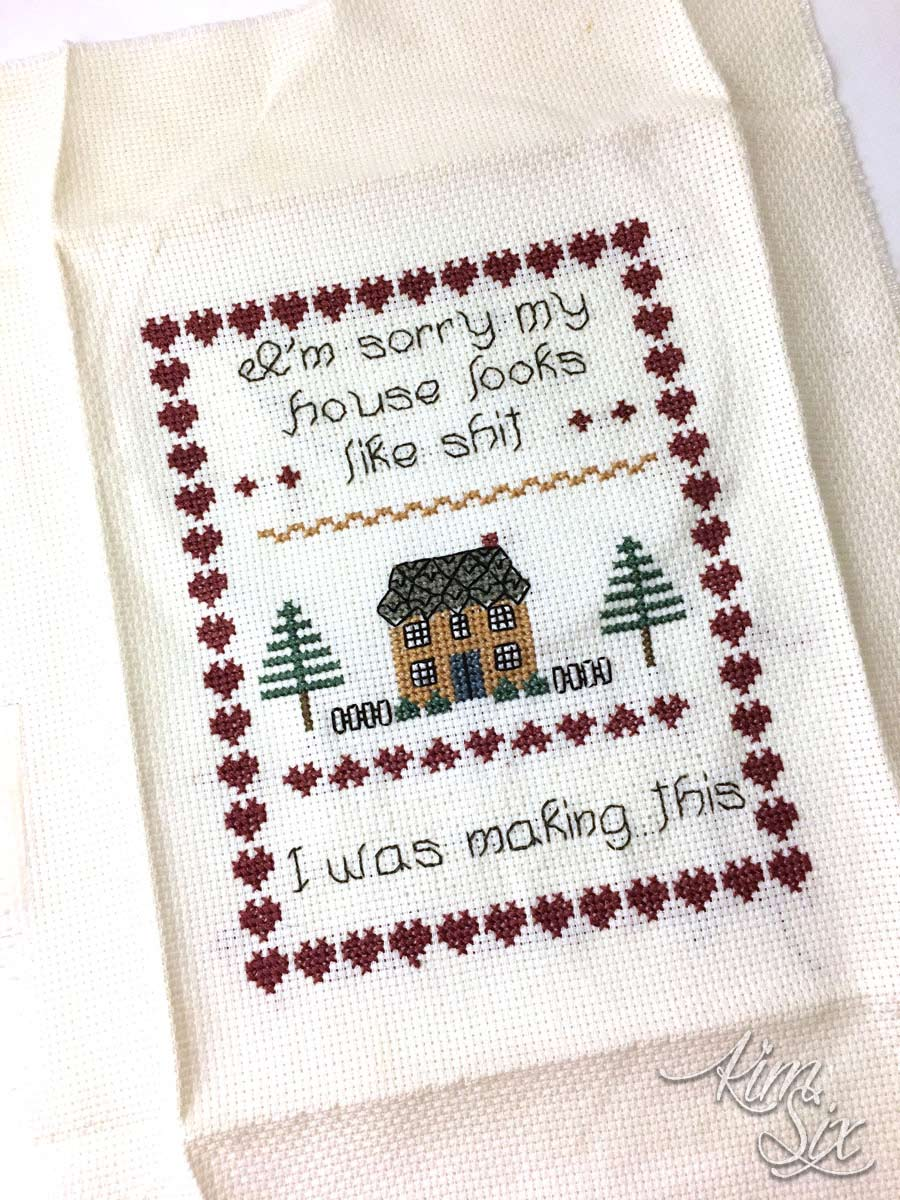 House looks like shit making this cross stitch