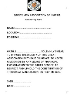 form and template for SMAN Association