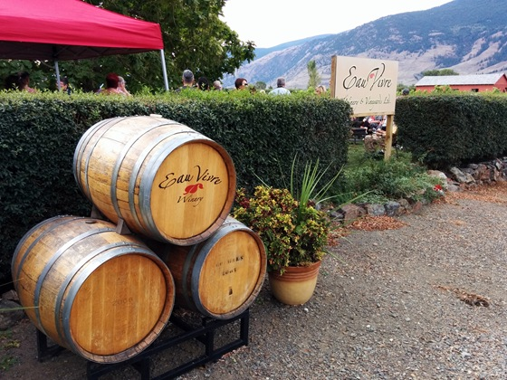 A garden tasting at Eau Vivre Winery