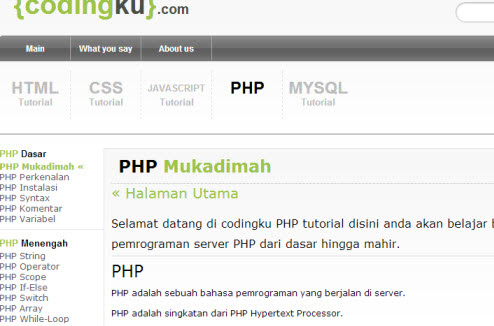 Codingku.com – W3schools versi bahasa Indonesia - Lawang ...
