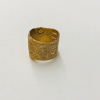 14K Gold Wide Rough Finish Ring