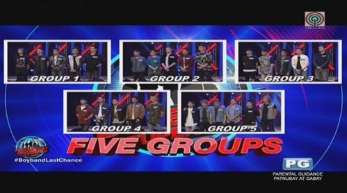 Pinoy Boyband Superstar - 5 Groups