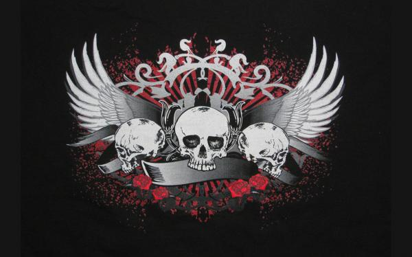 Skulls With Wings, Symbols And Emblems