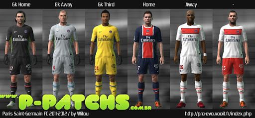 Paris Saint-Germain 11-12 Kitset para PES 2011 PES 2011 download P-Patchs