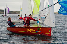 Phil Hermiston Royal Fidhorn Yacht Club  during racing at the National 18 Championship at Royal Cork Yacht Club Picture Robert Bateman