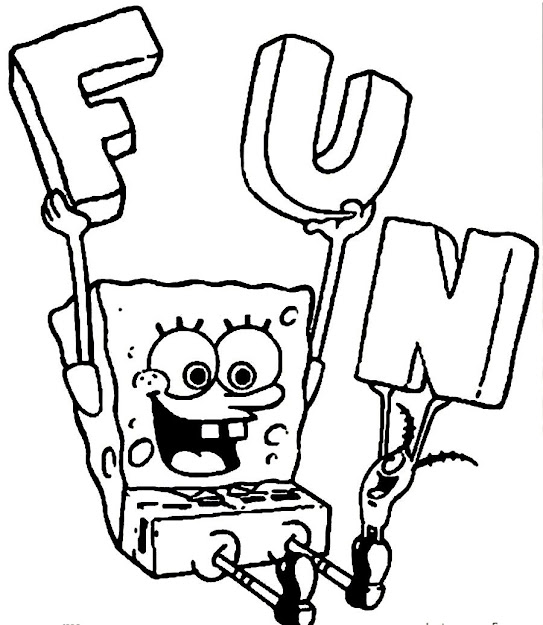 Coloring Pages Spongebob New