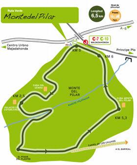 Ruta Verde en Majadahonda para recorrer a pie o en bicicleta desde estación de Cercanías'