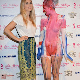 WWW.ENTSIMAGES.COM -   Ashley James  and  Body Painter(s)   at      Filippo iOco's PINK London 2014 at Gilgamesh, The Stables Market, LondonSwiss body painter iOco throws official London launch party for Breast Cancer Awareness Month. The night is sponsored by Kryolan, and featues a fine art and body painting showcase, with all proceeds going to the Pink Ribbon Foundation.                                                Photo Mobis Photos/OIC 0203 174 1069