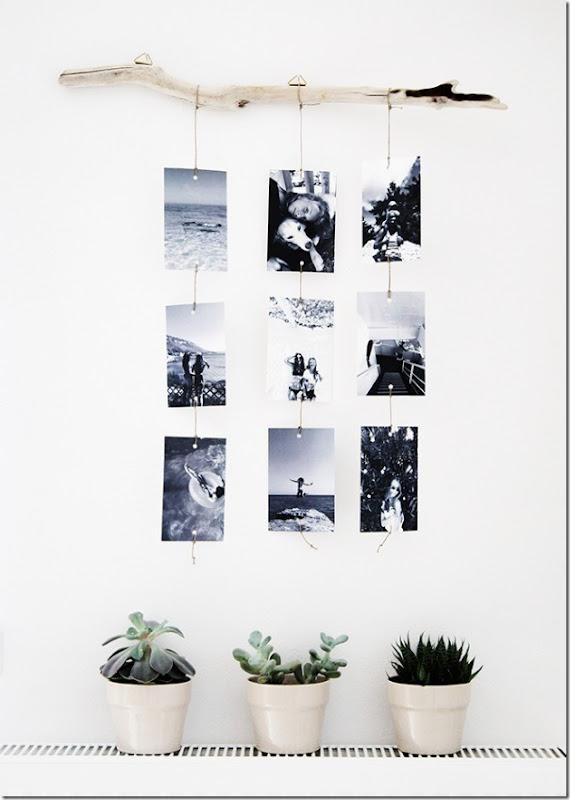 10 modi per decorare le pareti con foto senza cornici