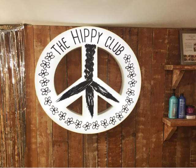 peace hair logo for the hippy club liverpool