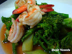 vegetable stir fry with prawns
