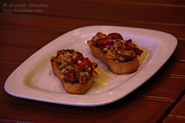 Italiano Backyard Bruschettas at Toss Sports Lounge Koregaon Park
