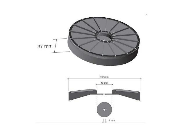 Filtro carboni cappe Faber diametro 23,3 cm. attacco a vite ...