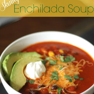 Skinny Cheesy Enchilada Soup