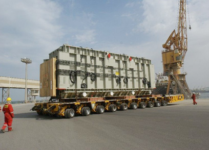 Kuwait - huge transformer from Germany