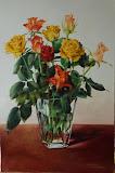 róże, olej, płótno, 40 x 60 cm, własność prywatna