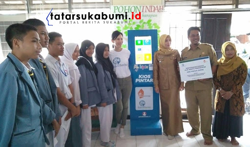 Berprestasi di Tingkat Nasional, Perpustakaan Desa Kabandungan Terima Mesin Kipin ATM