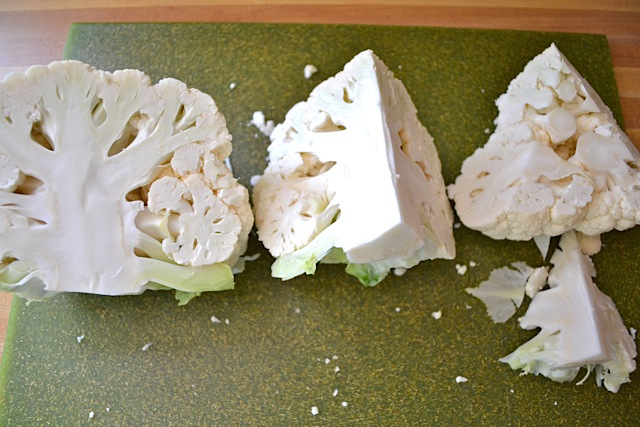 cut cauliflower
