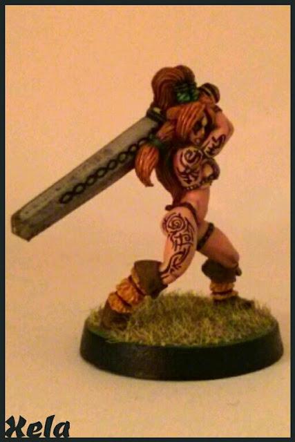 Campeona Eriu pintada por Xela