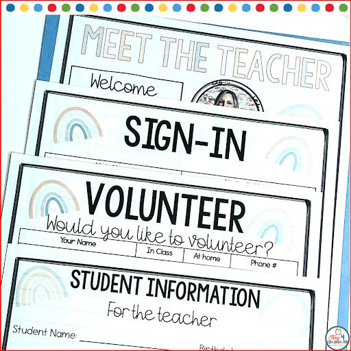 Open House night for Meet the Teacher Forms