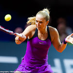 STUTTGART, GERMANY - APRIL 18 : Sabine Lisicki in action at the 2016 Porsche Tennis Grand Prix