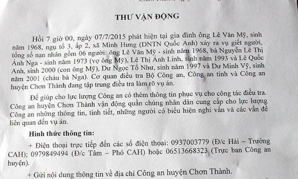 CAP NHAT Tham sat 6 nguoi o Binh Phuoc Mo rong pham vi dieu tra  anh 5