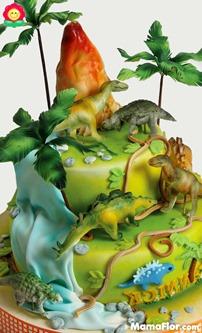 pastel de dinosaurios - 05