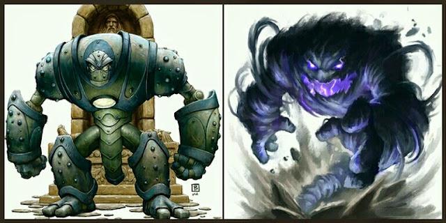 Golem y Elemental
