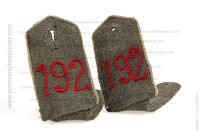 German WWI shoulder strapsof J.R. 192