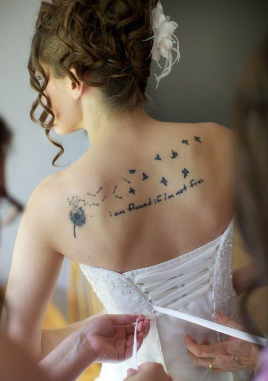 noiva_do_dente-de-leo_com_pssaros_voando_de_volta_tatuagem