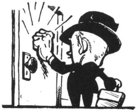 nelūgtie viesi klauvē pie durvīm