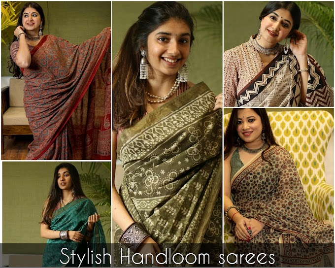 The Impeccable Collection of Uber seren & Stylish Handloom Saree for 2021.