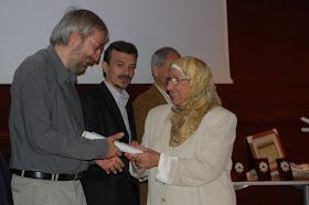 15 ANIVERSARIO del CCIV.  Guillermo William Vansteenberghe con la Presidenta del CCIV.