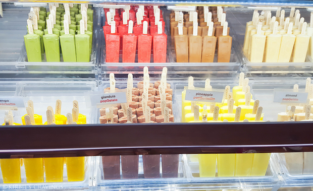 photo of the popsicle display