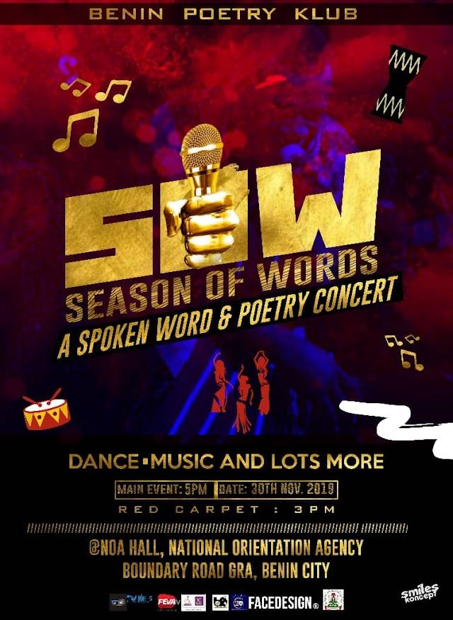 Season Of Words Locks Down Benin Today