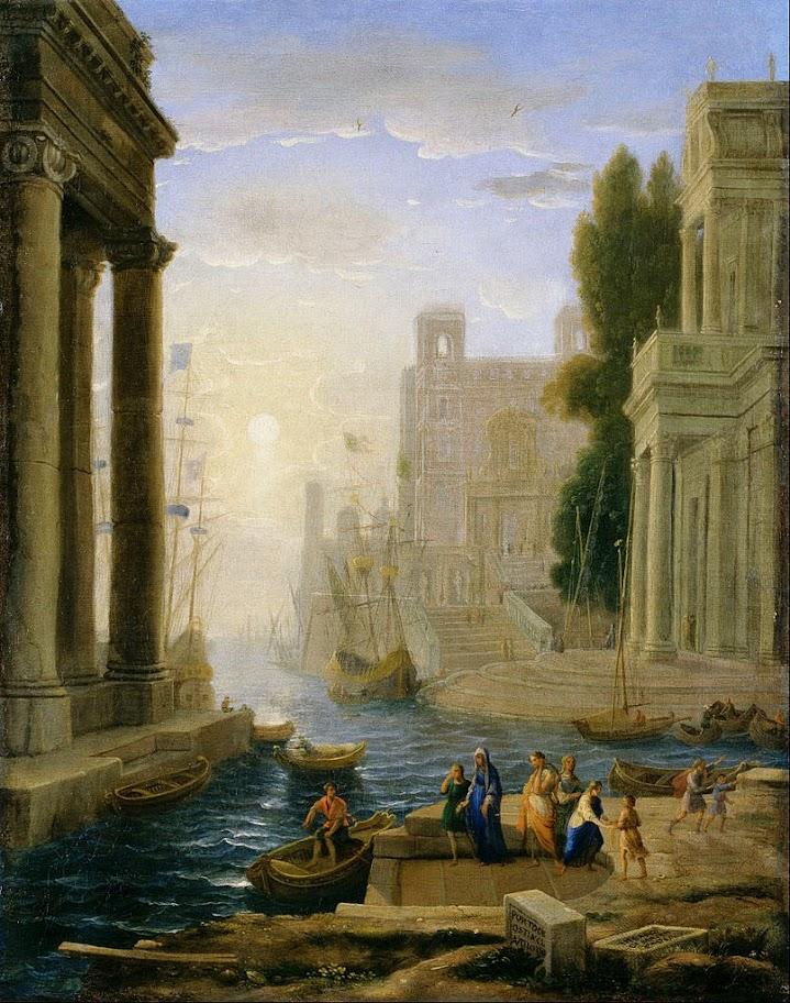 Claude Lorrain - Embarkation of St Paula - Google Art Project