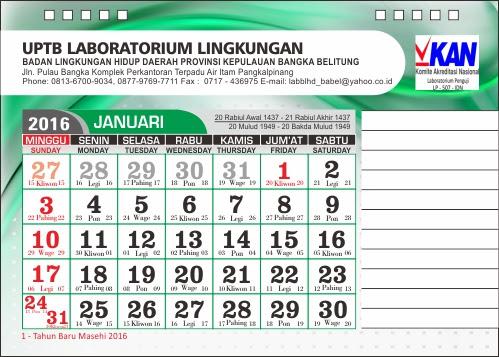 cetak kalender pangkal pinang