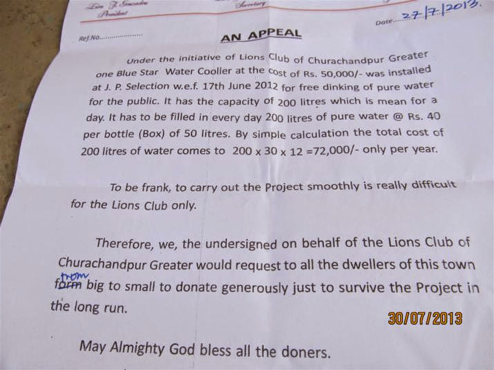 Lions Club of CCpur Greater in Theihsakna Bawl
