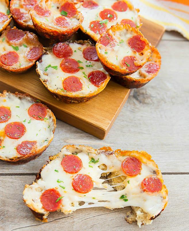 photo of Cauliflower Pizza Muffins