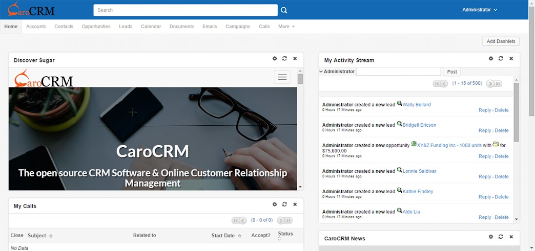 The New Sugar CRM Caro Theme for CE