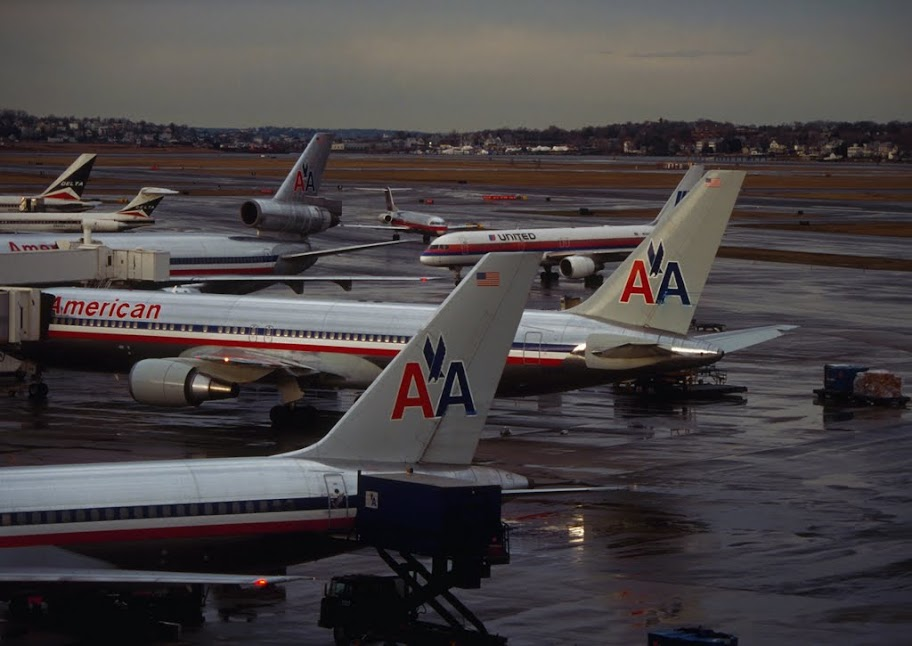 Art Print Poster Canvas American Airlines Terminal At