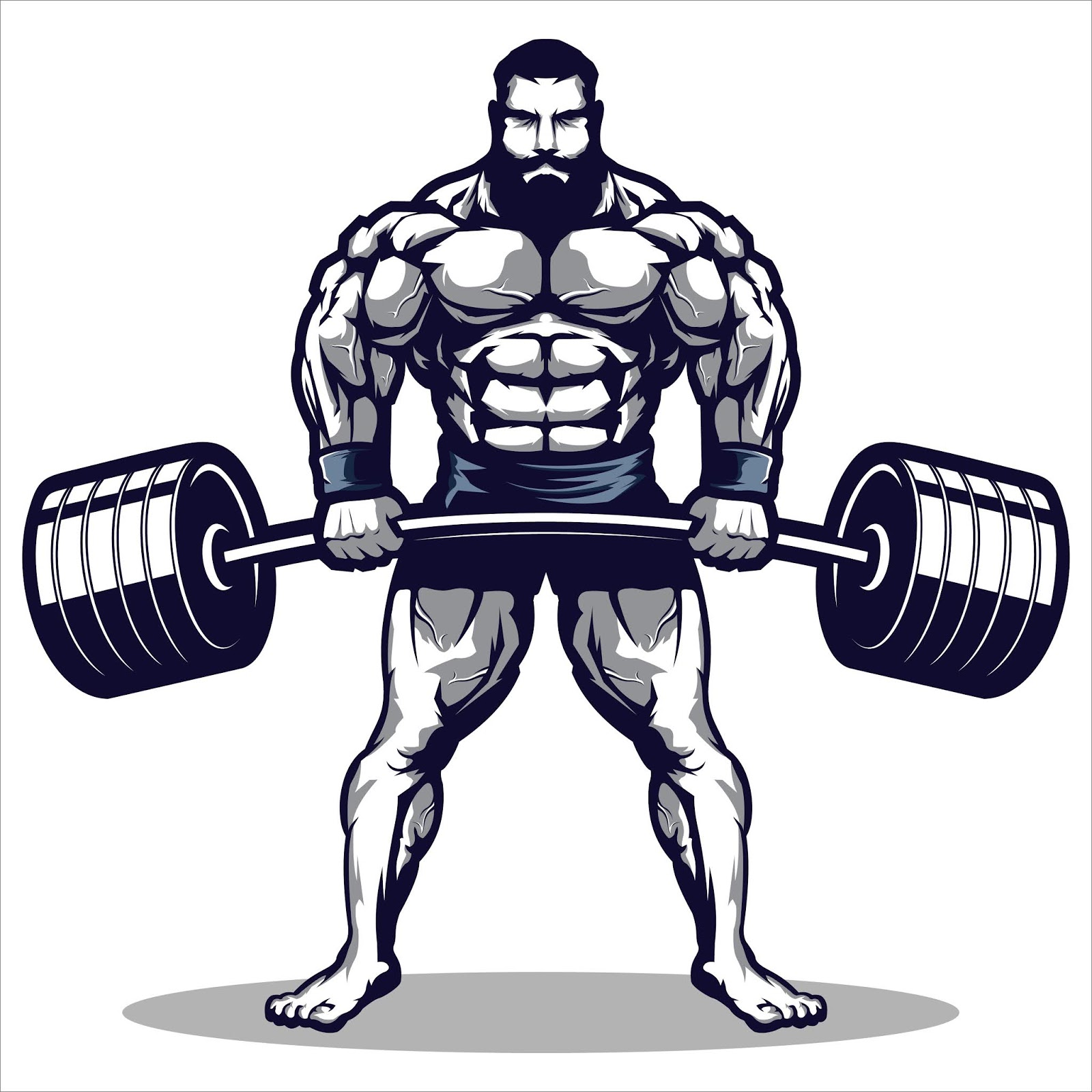Mascot Gym Man Illustration Free Download Vector CDR, AI, EPS and PNG Formats