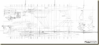 F-101B Model Plan Sheer & Cross Sections LS 33-64 1-16 scale