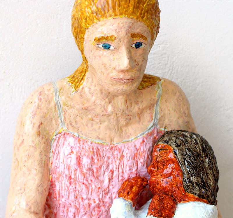 detail 1 of mare de déu amb el nen dormint ~ frank waaldijk