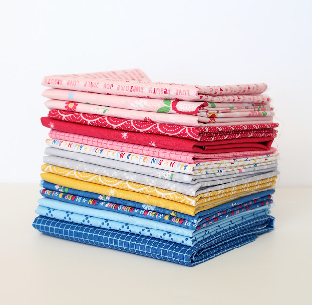 Pure Delight fabrics by Melanie Collette for Riley Blake Designs found on A Bright Corner - you HAVE to see what she made with these!