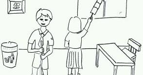 Contoh Gambar Lingkungan Sekolah Dengan Pensil Blog Cara Tips Dan