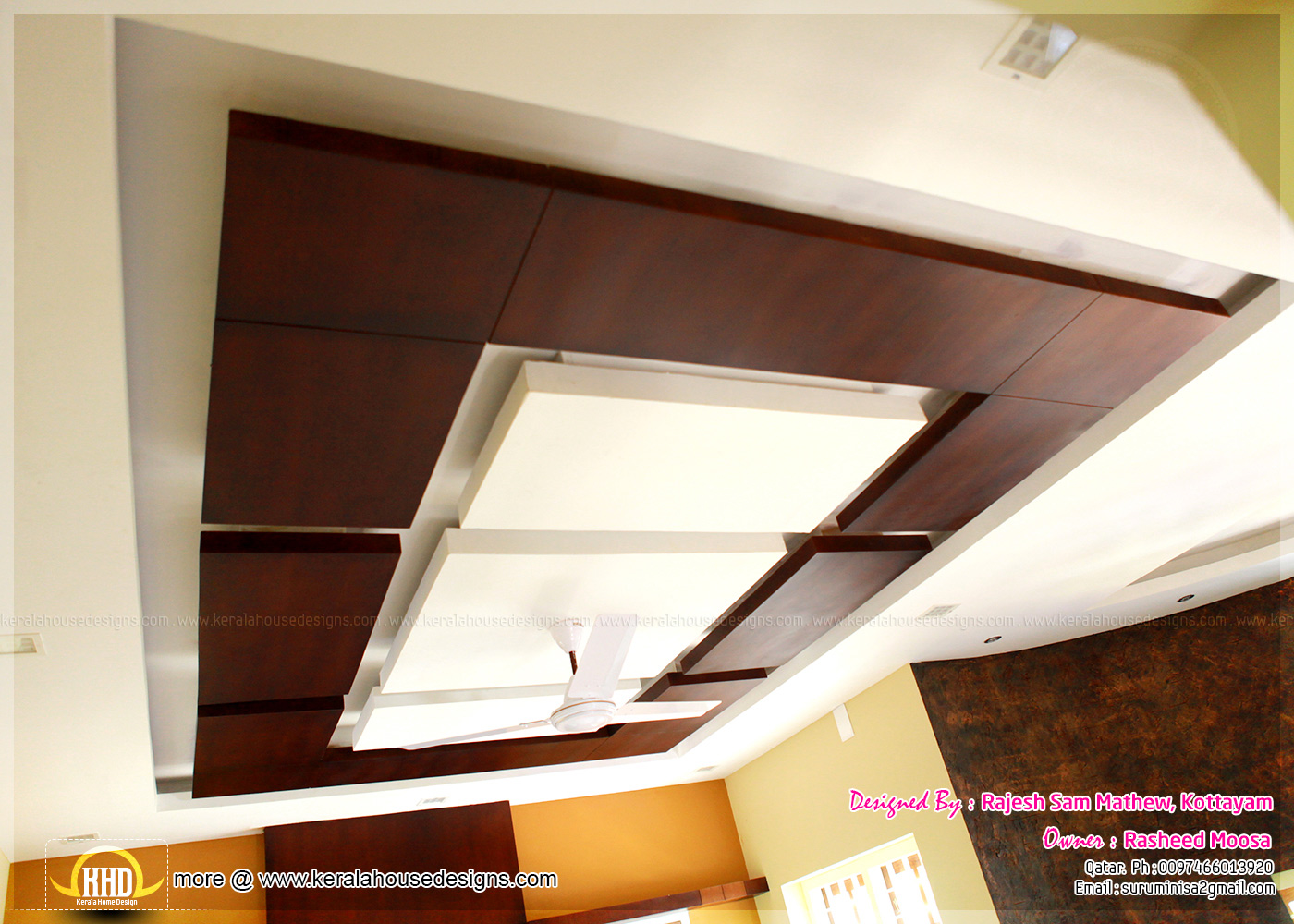 Kerala interior design with photos kerala home design for Interior house design ceiling