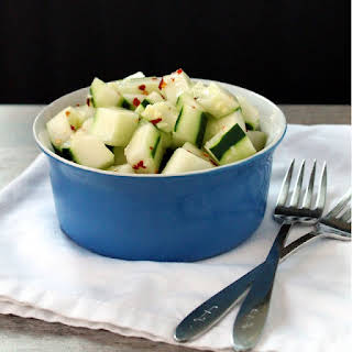 Spicy Ginger Cucumber Salad.