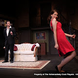Paul Dedrick and Amy Lamena in LEADING LADIES - October 2011.  Property of The Schenectady Civic Players Theater Archive.