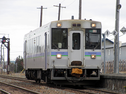 JR北海道 根室本線 快速「狩勝」 3427D キハ150 10 山部駅にて その1